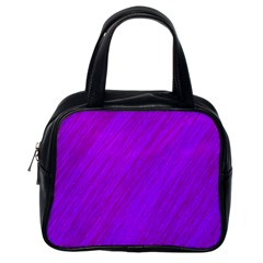 Purple Pattern Classic Handbags (one Side) by Valentinaart