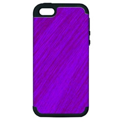 Purple Pattern Apple Iphone 5 Hardshell Case (pc+silicone) by Valentinaart
