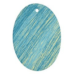 Light Blue Pattern Ornament (oval)