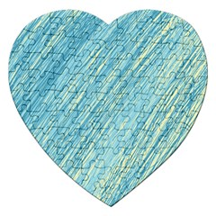 Light Blue Pattern Jigsaw Puzzle (heart) by Valentinaart