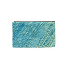 Light Blue Pattern Cosmetic Bag (small)  by Valentinaart