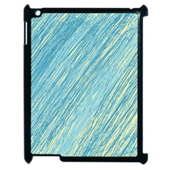 Light Blue Pattern Apple Ipad 2 Case (black) by Valentinaart