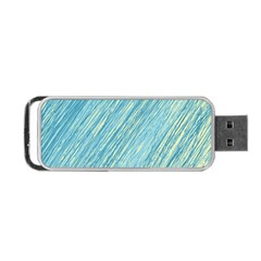 Light Blue Pattern Portable Usb Flash (two Sides) by Valentinaart