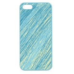 Light Blue Pattern Apple Seamless Iphone 5 Case (color) by Valentinaart