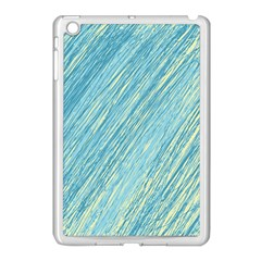 Light Blue Pattern Apple Ipad Mini Case (white) by Valentinaart