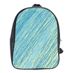 Light Blue Pattern School Bags (xl)  by Valentinaart