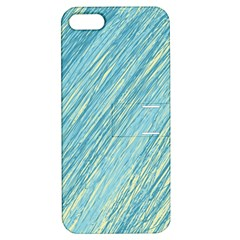 Light Blue Pattern Apple Iphone 5 Hardshell Case With Stand by Valentinaart
