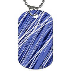 Blue Elegant Pattern Dog Tag (two Sides) by Valentinaart