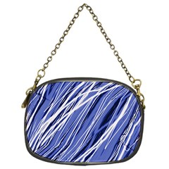 Blue Elegant Pattern Chain Purses (one Side)  by Valentinaart