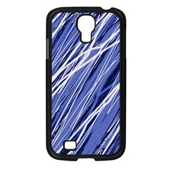Blue Elegant Pattern Samsung Galaxy S4 I9500/ I9505 Case (black) by Valentinaart