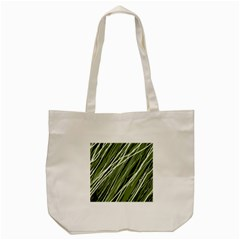 Green Decorative Pattern Tote Bag (cream) by Valentinaart