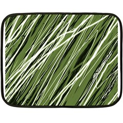 Green Decorative Pattern Double Sided Fleece Blanket (mini)  by Valentinaart