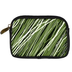 Green Decorative Pattern Digital Camera Cases by Valentinaart