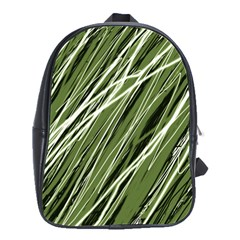 Green Decorative Pattern School Bags(large)  by Valentinaart