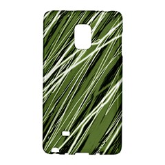 Green Decorative Pattern Galaxy Note Edge by Valentinaart