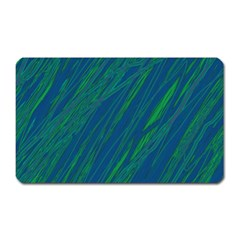 Green Pattern Magnet (rectangular) by Valentinaart