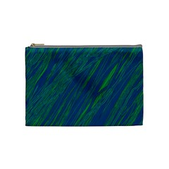 Green Pattern Cosmetic Bag (medium)  by Valentinaart