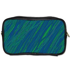Green Pattern Toiletries Bags by Valentinaart