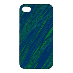 Green Pattern Apple Iphone 4/4s Hardshell Case by Valentinaart