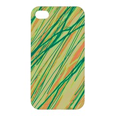 Green And Orange Pattern Apple Iphone 4/4s Hardshell Case by Valentinaart