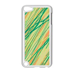 Green And Orange Pattern Apple Ipod Touch 5 Case (white) by Valentinaart