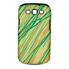 Green And Orange Pattern Samsung Galaxy S Iii Classic Hardshell Case (pc+silicone) by Valentinaart