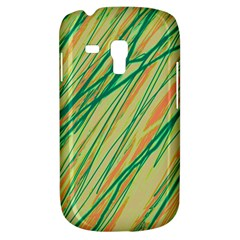 Green And Orange Pattern Samsung Galaxy S3 Mini I8190 Hardshell Case by Valentinaart