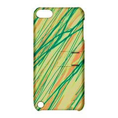 Green And Orange Pattern Apple Ipod Touch 5 Hardshell Case With Stand by Valentinaart