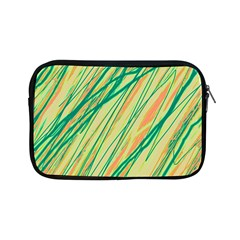Green And Orange Pattern Apple Ipad Mini Zipper Cases by Valentinaart