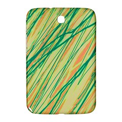Green And Orange Pattern Samsung Galaxy Note 8 0 N5100 Hardshell Case  by Valentinaart