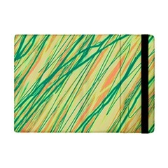Green And Orange Pattern Ipad Mini 2 Flip Cases by Valentinaart