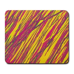 Orange Pattern Large Mousepads by Valentinaart