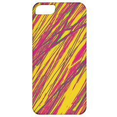 Orange Pattern Apple Iphone 5 Classic Hardshell Case by Valentinaart