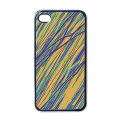 Blue And Yellow Van Gogh Pattern Apple Iphone 4 Case (black) by Valentinaart