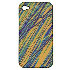 Blue And Yellow Van Gogh Pattern Apple Iphone 4/4s Hardshell Case (pc+silicone) by Valentinaart
