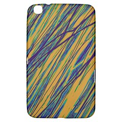 Blue And Yellow Van Gogh Pattern Samsung Galaxy Tab 3 (8 ) T3100 Hardshell Case  by Valentinaart