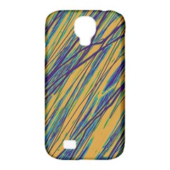 Blue And Yellow Van Gogh Pattern Samsung Galaxy S4 Classic Hardshell Case (pc+silicone) by Valentinaart
