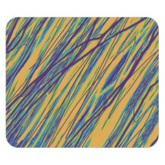 Blue And Yellow Van Gogh Pattern Double Sided Flano Blanket (small)  by Valentinaart