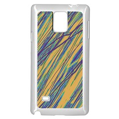 Blue And Yellow Van Gogh Pattern Samsung Galaxy Note 4 Case (white) by Valentinaart