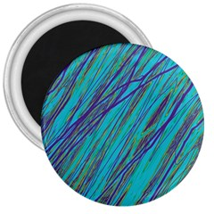 Blue Pattern 3  Magnets by Valentinaart