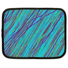 Blue Pattern Netbook Case (xxl)  by Valentinaart