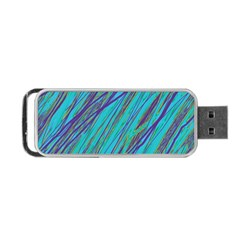 Blue Pattern Portable Usb Flash (two Sides) by Valentinaart