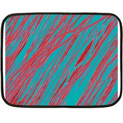 Red And Blue Pattern Fleece Blanket (mini)
