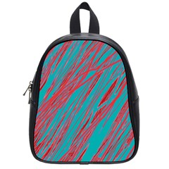 Red And Blue Pattern School Bags (small)  by Valentinaart