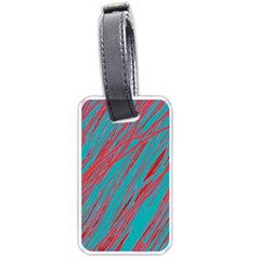 Red And Blue Pattern Luggage Tags (one Side)