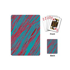 Red And Blue Pattern Playing Cards (mini)  by Valentinaart