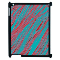 Red And Blue Pattern Apple Ipad 2 Case (black) by Valentinaart