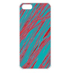 Red And Blue Pattern Apple Iphone 5 Seamless Case (white) by Valentinaart