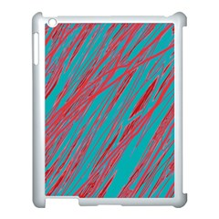 Red And Blue Pattern Apple Ipad 3/4 Case (white) by Valentinaart