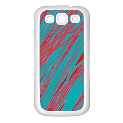 Red And Blue Pattern Samsung Galaxy S3 Back Case (white) by Valentinaart